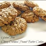 Gluten Free Chewy Oatmeal Peanut Butter Cookie #kidsinthekitchen