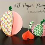 3D Paper Pumpkins #fall #crafts