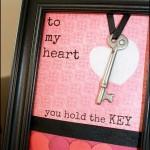 Framed Key to My Heart Valentine's Craft