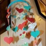 Paper Heart Chandelier #craft #heart