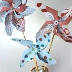 Paper Pinwheels in Mini Flowerpots #craft