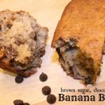 Brown Sugar Chocolate Chip Banana Bread Recipe #kidsinthekitchen