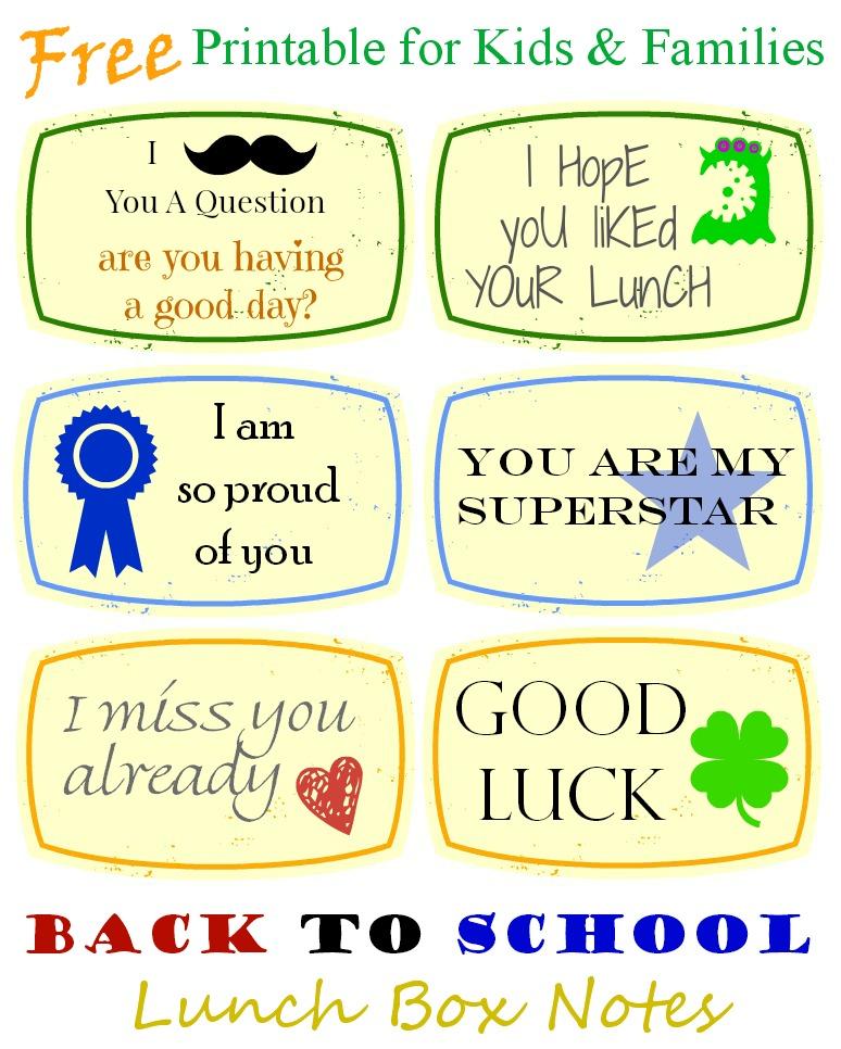 Back To School Lunch Box Notes Kidsinthekitchen