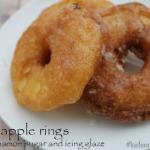 Fried Cinnamon Sugar Apple Rings #kidsinthekitchen